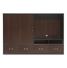 Crosby Slider TV Unit - @home by Nilkamal, Dark Walnut