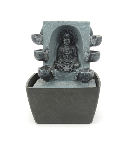 Buddha Blessing Water Fountain - @home by Nilkamal, Gold