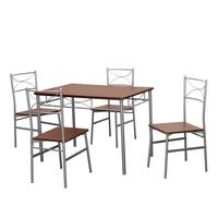 Wendy 4 Seater Dining Set - @home by Nilkamal, Walnut