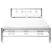 Nilkamal Zeplin Double Metal Bed, Silver