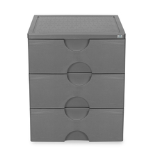 Nilkamal Chester 33 Chest of 3 Drawer, Grey