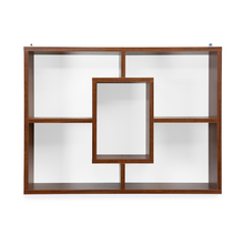 Megan Wall Shelf - @home by Nilkamal, Walnut