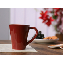 Solid Stoneware 295ML Coffee Mug, Maroon