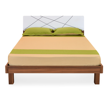 Tiffany Queen Bed with Mattress - @home by Nilkamal, Walnut