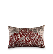 Scroll 30 cm x 45 cm Filled Cushion - @home by Nilkamal, Maroon
