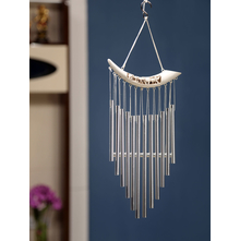 Horizontal Mini Elephants Windchime, White