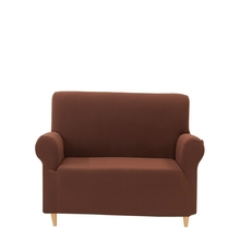 2 Seater Knit Sofa Cover, Brown