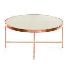 Floris Center Table - @home by Nilkamal, White & Copper