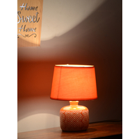 Engrave Geometric Small Table Lamp, Orange