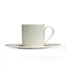 Mosaic Cup & Saucer Set - @home by Nilkamal, White