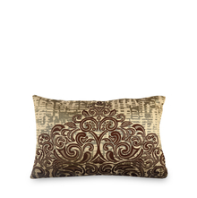 Scroll 30 cm x 45 cm Filled Cushion - @home by Nilkamal, Brown
