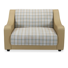 Plaid 2 Seater Sofa - @home by Nilkamal, Camel