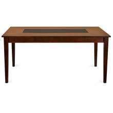Olivia 6 Seater Dining Table - @home by Nilkamal, Dark Walnut