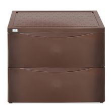 Nilkamal Chester Storage 2 Drawer Series - 42, Weather Brown