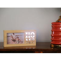 Single LED home 26X13CM Photo Frame, Wooden