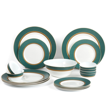 Laopala Sovrana Empress 19 Pieces Dinner Set, Green