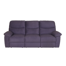 Midas 3 Seater Sofa with 2 Manual Recliner, Deep Plum