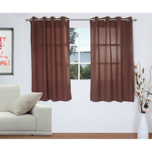 Stripe 127 cm x 152 cm Window Curtain Set of 2 - @home by Nilkamal, Brown