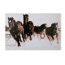 Forest Horses 60x90cm Picture Frame -@home by Nilkamal, Maroon