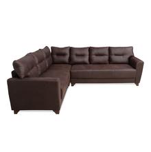 Zayna Corner Sofa, Dark brown