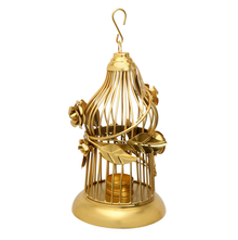 Forest Wine Bird Cage Small Lantern - @home by Nilkamal, Gold