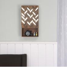 Monah Vertical Wall Cabinet, Walnut