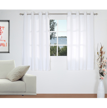 Moshi 112 cm x 152 cm Window Curtain Set of 2 - @home by Nilkamal, White