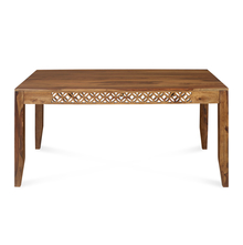 Dalia 6 Seater Dining Table, Natural Walnut