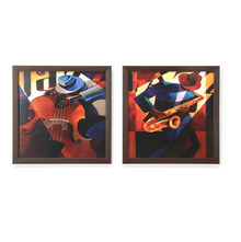 Musicians Painting - @home by Nilkamal, Set of 2