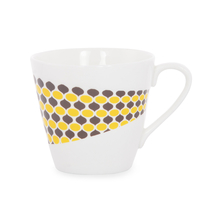 Ashley Tea Cups Set of 6 - @home by Nilkamal, Yellow & Brown