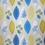 Floral Print 180 cm x 200 cm Shower Curtain - @home by Nilkamal, Blue