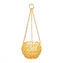 Urban Hanging Crystal Cup Candle Stand - @home by Nilkamal, Yellow