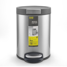 8 Litre Dustbin - @home By Nilkamal, Silver