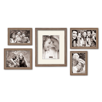 Photo Frame Set of 5 - @home by Nilkamal, Oak