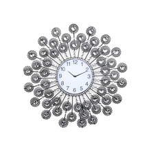 Crystal Crochet Wall Clock - @home by Nilkamal, Black