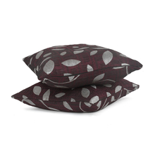 Leaf 30 x 30 cm Cushion Cover Set of 2 - @home by Nilkamal, Maroon
