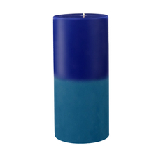 Ocean Large Two Tone Wax Candle - @home by Nilkamal, Indigo