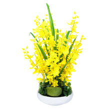 Dancing Orchid Big Potted Plant - @home by Nilakmal, Yellow