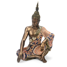 Sitting Buddha Showpiece - @home by Nilkamal, Bronze,  brown