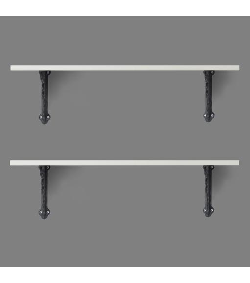 Opera & Janus Small Wall Shelf Set of 2 - @home by Nilkamal, White