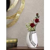 Curvy Crystal Vase, White