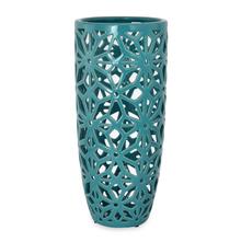 Enchanted Net Vase - @home by Nilkamal, Sea Green