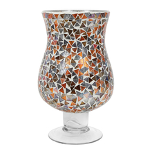 Mosaic Geo Hurricane Candle Stand - @home by Nilkamal, Multicolor