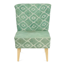 Spatial Arm Chair, Beige & Green