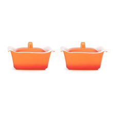 Bergner Casserole with Lid Set of 2 - Orange