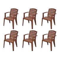 Nilkamal Passion Garden Chair Set of 6 - Mango Wood