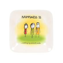 Happiness Radiant 23CM Urmi Quater Plate, White