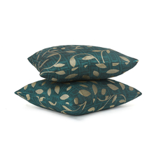 Leaf 40 x 40 cm Cushion Cover Set of 2 - @home by Nilkamal, Sea Green