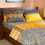 Dalliance 152 x 228 cm Single Comforter - @home by Nilkamal, Yellow