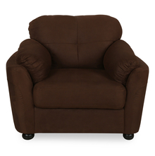 Hawaii 1 Seater Sofa - @home by Nilkamal, Choco Brown